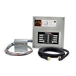 Generac 50 Amp Indoor Transfer Switch Kit for 10-16 circuits, alum PIB + conduit, 30 Amp plug