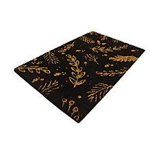 Golden Leaf 18-inch X 30-inch Golden Coir Door Mat