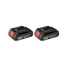 18-Volt Lithium-Ion 2.0Ah SlimPack Batteries (2-Pack)