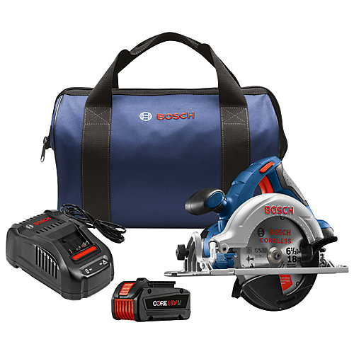 18V Cordless 6.5-inch Circular Saw Kit with CORE18V 6.3Ah Li-Ion Battery