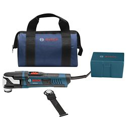 Bosch StarlockMax Variable Speed Oscillating Multi-Tool Kit with Carrying Bag (4-Piece)