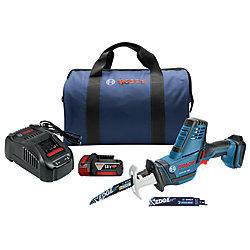 Bosch 18V Cordless Variable Speed Compact Reciprocating Saw Kit with 4.0Ah FatPack Battery