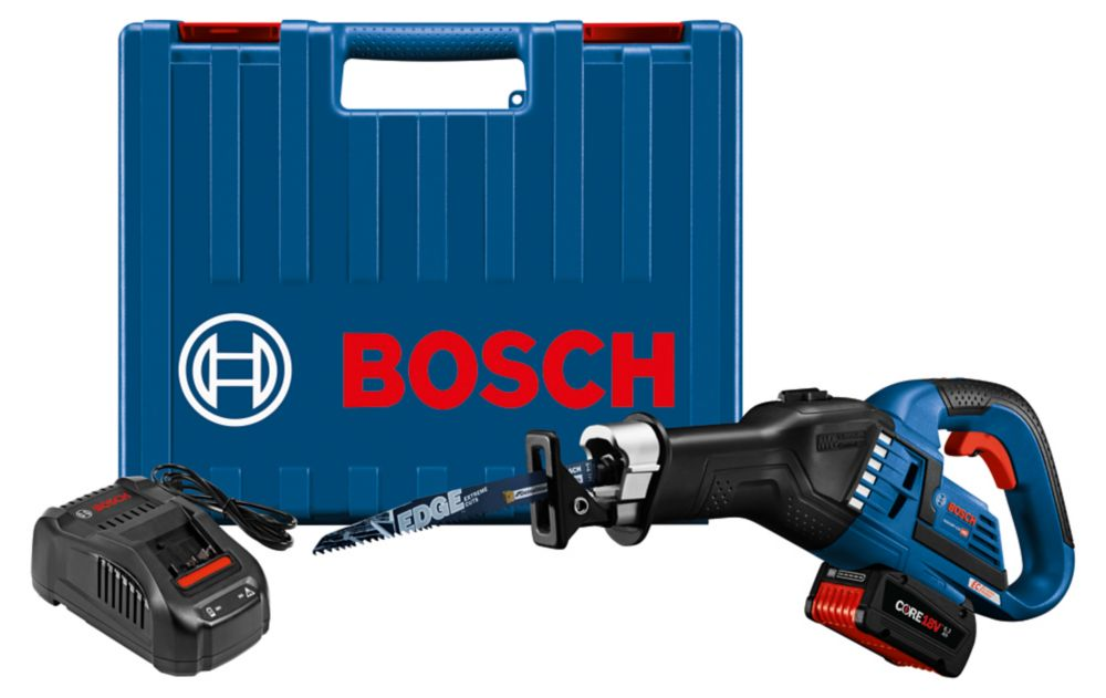 Bosch 18V EC Brushless 1.25-inch-Stroke Multi-Grip Reciprocating Saw Kit with CORE18V 6.3Ah Battery
