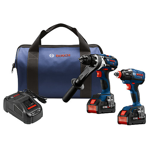 18-Volt 2-Tool Combo Kit with (2) CORE18V 6.3 Ah Lithium-Ion Batteries