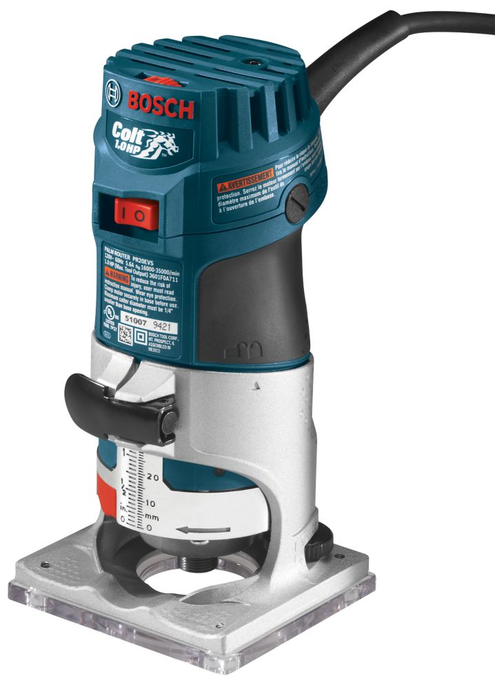 Bosch Colt Electronic Variable-Speed Palm Router