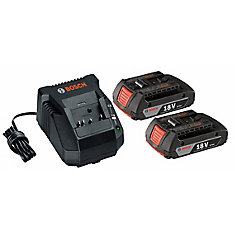 18-Volt Lithium-Ion 2.0Ah SlimPack Battery (2-Pack) and Charger Starter Kit