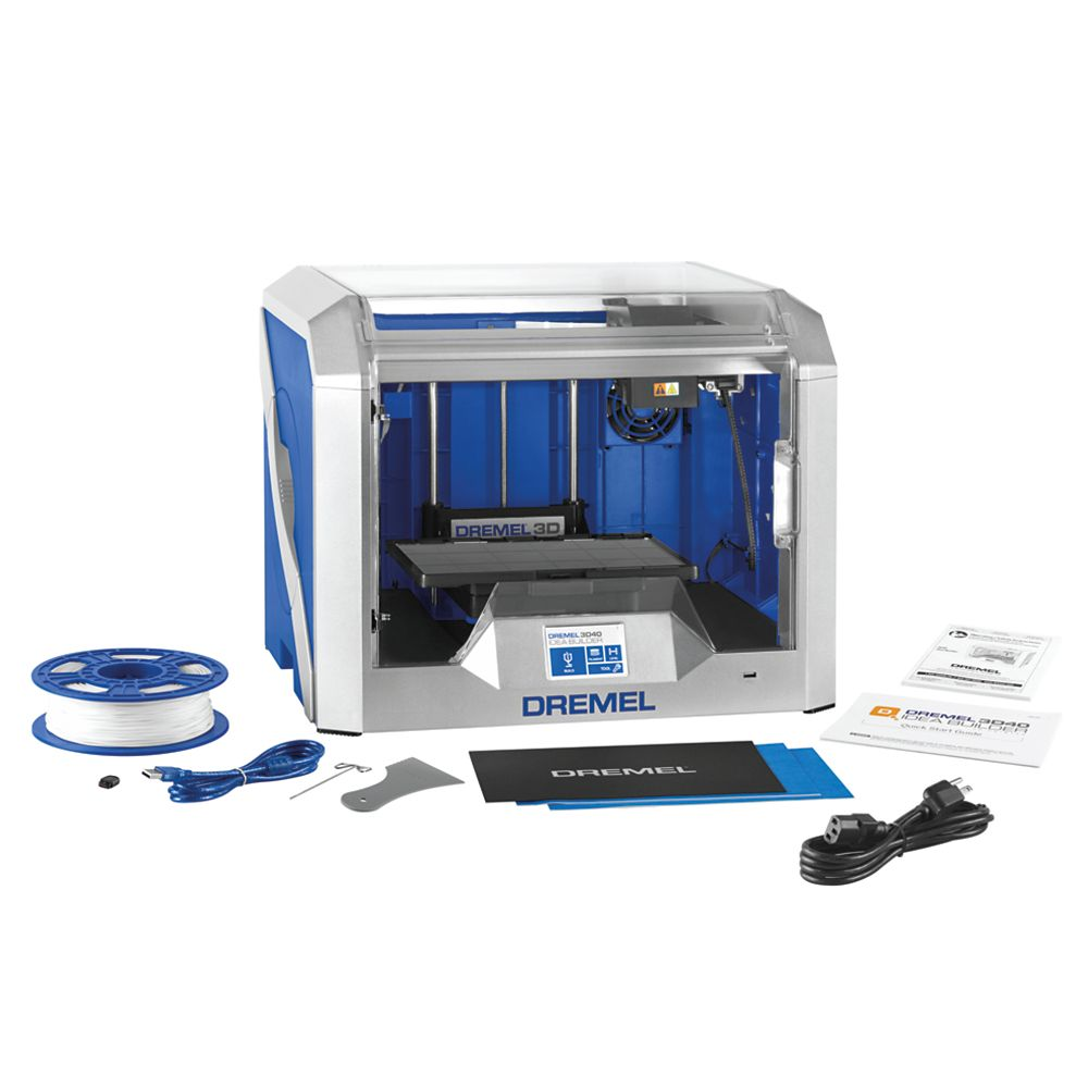 Dremel 3D40 Idea Builder 3D Printer with Built-In Wifi and Guided Leveling