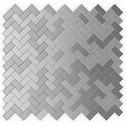 SpeedTiles Earl Grey 12,09-inch x 11.65-inch Metal Self-Adhesive Wall Mosaic Tile