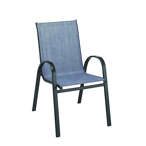 Chaise en toile empilable - denim
