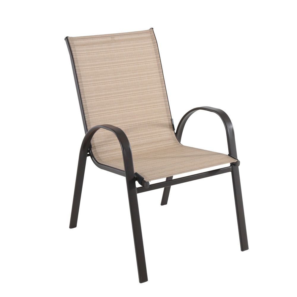 Match Sling Stacking Patio Dining Chair