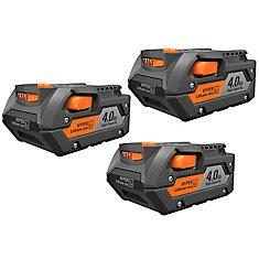 Batterie lithium-ion HYPER 4.0Ah HYPER 18 Volt 4.0Ah (pack de 3)
