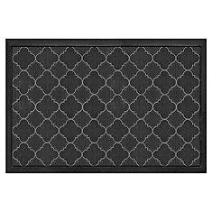 Starpin Black 24-inch x 36-inch Rubber Pin Doormat