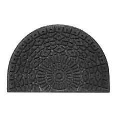 Half-moon Contours Charcoal 2 ft. x 3 ft. Doormat