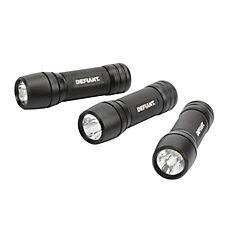 100-Lumen AAA LED Flashlight in Black (3-Pack)