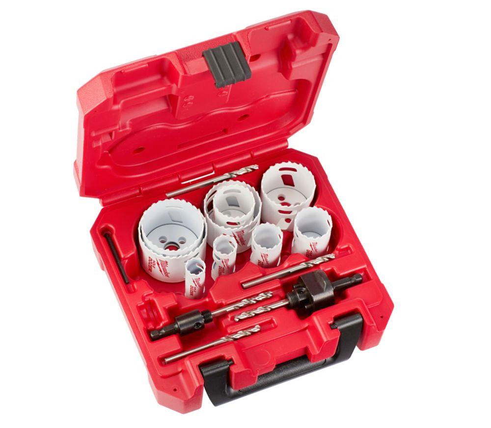 Milwaukee Tool HOLE DOZER Bi-Metal Hole Saw Set (17-Piece) with Case