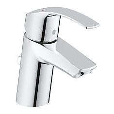Robinet de salle de bain Eurosmart monotrou à poignée unique 1,2gpm en chrome StarLight
