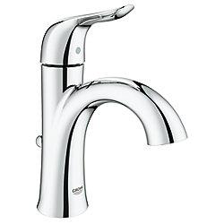 GROHE Agira Single Hole Bathroom Faucet with SilkMove - Metal Pop-U, Starlight Chrome