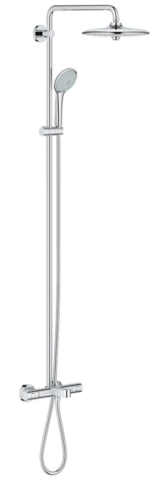 GROHE Euphoria System 260 Shower System with Bath Thermostat for Wall Mount