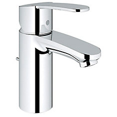 Robinet de salle de bain Eurostyle Cosmopolitan monotrou à poignée unique en chrome StarLight