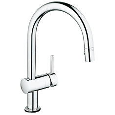 Moen Benton Single Handle Pull Down Kitchen Faucet In Chrome Finish