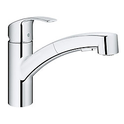 GROHE Eurosmart Single-Handle Pull-Out Sprayer Kitchen Faucet in StarLight Chrome