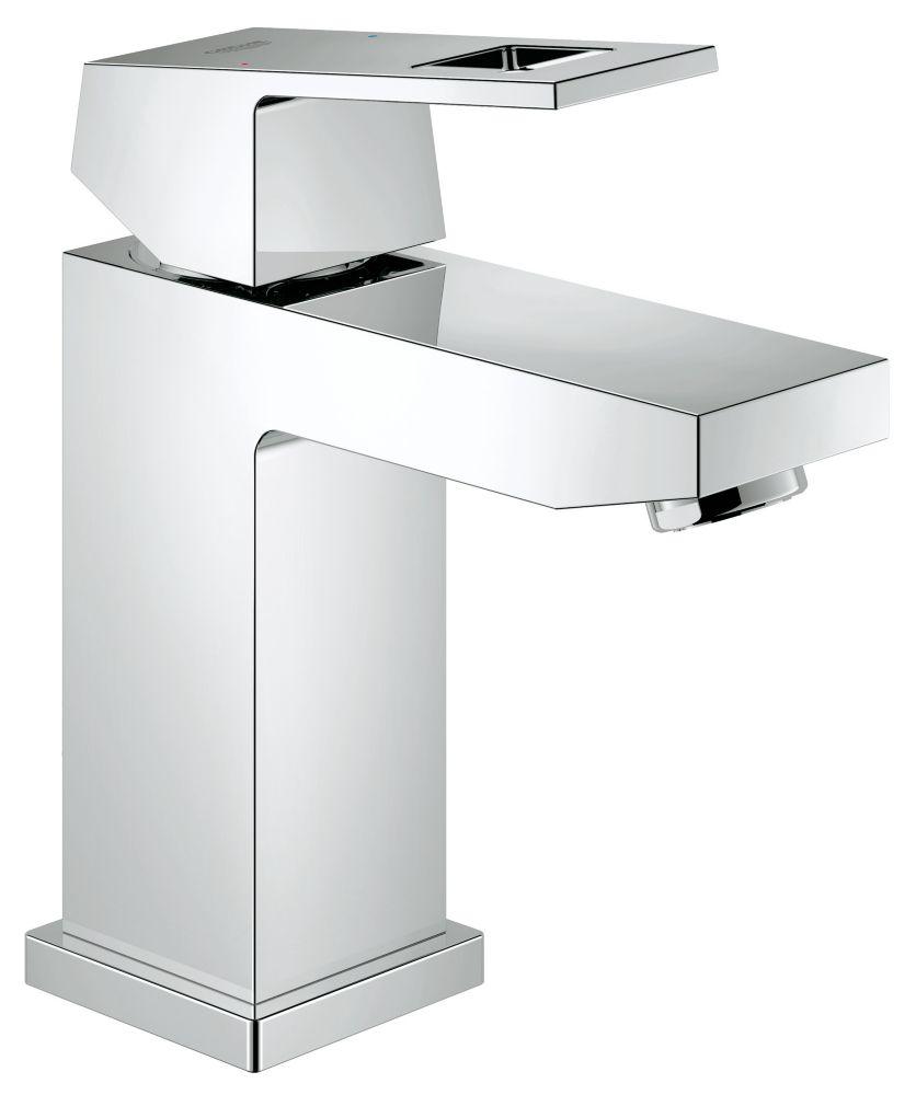 GROHE Eurocube Single Hole Single-Handle Low Arc 1.2 GPM Bathroom Faucet in StarLight Chrome