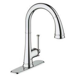 GROHE Joliette Single-Handle Dual Spray Pull Down Kitchen Faucet in StarLight Chrome finish
