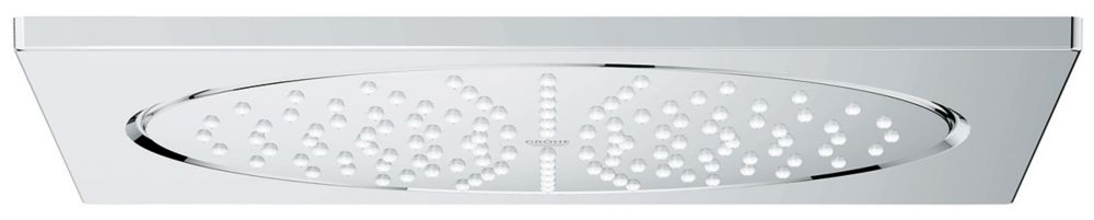 1-Spray 10-inch Single Ceiling Mount Fixed Rain Shower Head in StarLight Chrome