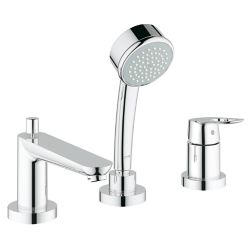 GROHE BauLoop Single-Handle Deck-Mount Roman Tub Faucet in StarLight Chrome
