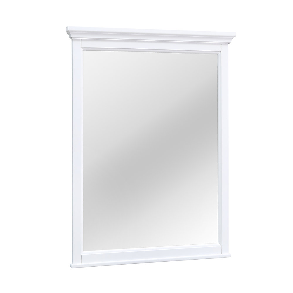 Ashburn 28 inch x 31 inch Framed Mirror in White