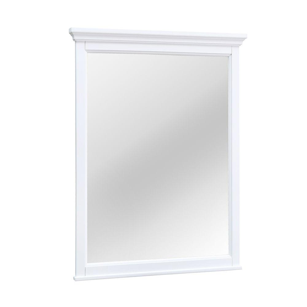 Foremost Ashburn 28 inch x 31 inch Framed Mirror in White