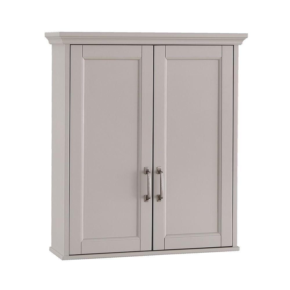 Foremost Ashburn 23.5 inch x 28 inch Wall Cabinet in Grey