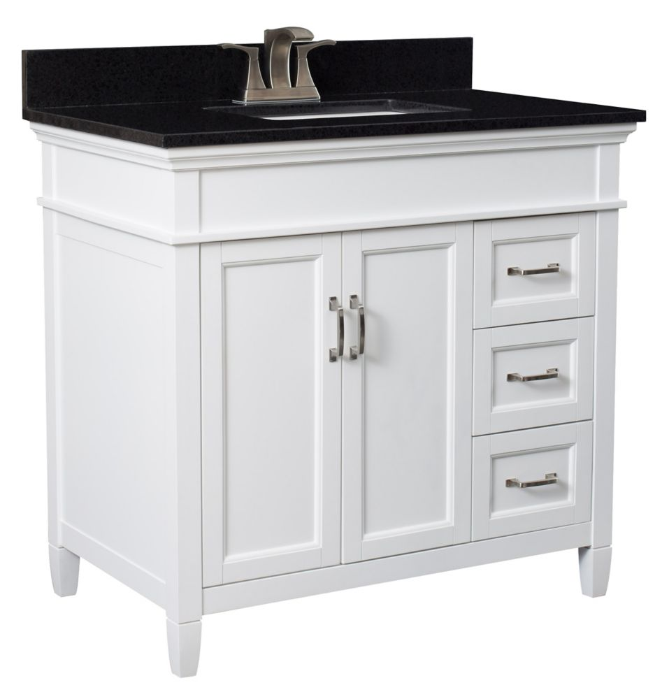Glacier Bay Whitton 24 Inch W Vanity Combo With White