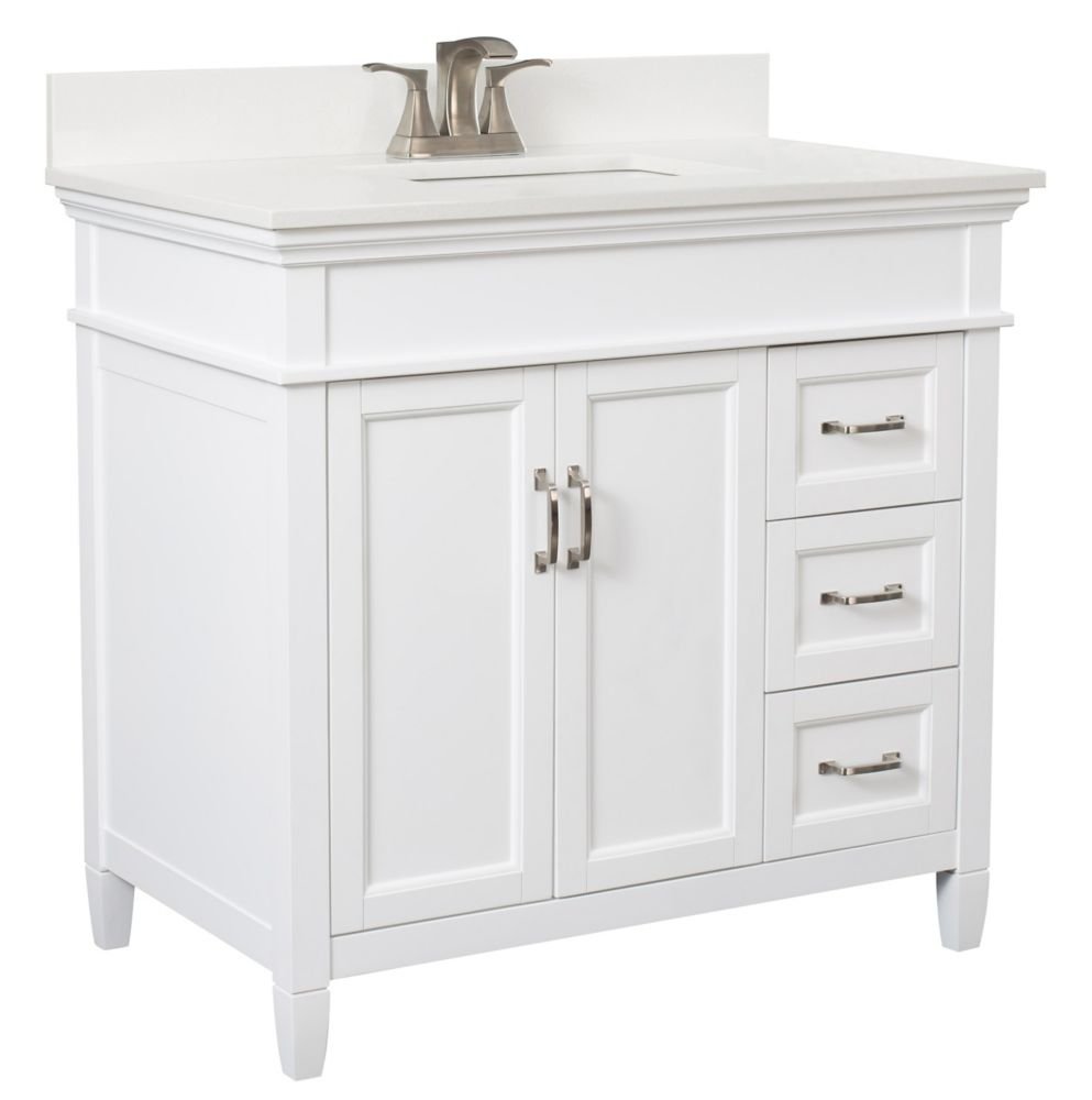 Foremost Ashburn 36 Inch Vanity Combo In White With Lily