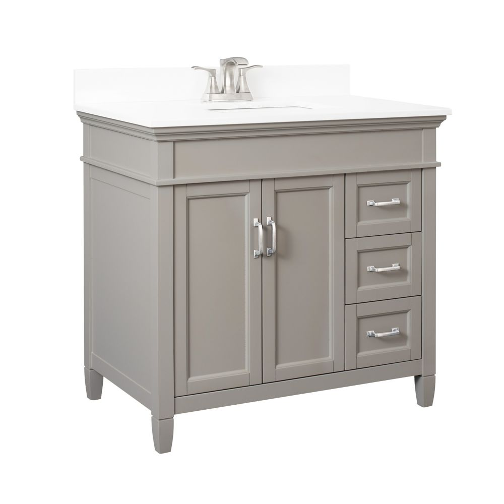 Foremost Ashburn 36 Inch Vanity Combo In Grey With Lily