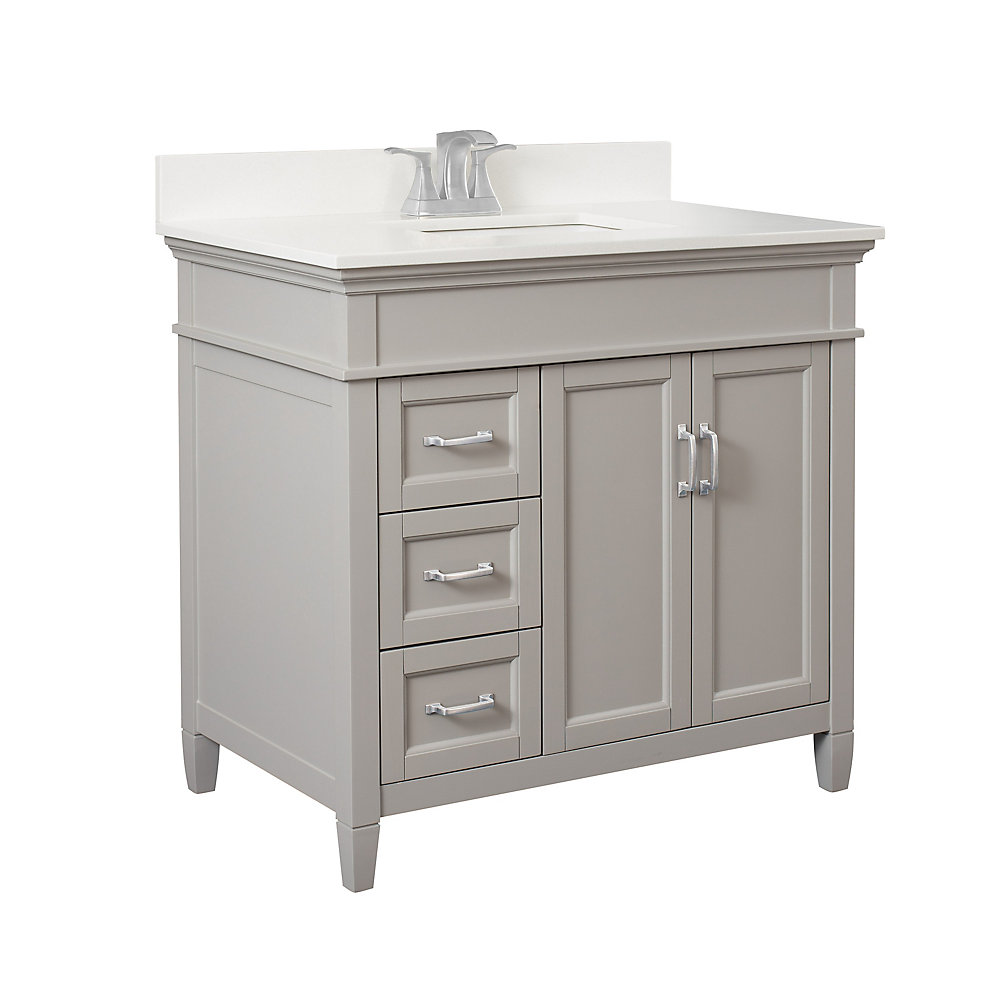 Foremost Ashburn 36 inch Vanity Combo in Grey with Lily ...