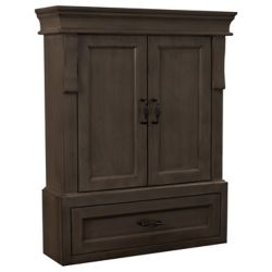 Foremost Armoire mural 26po Naples en noyer antique
