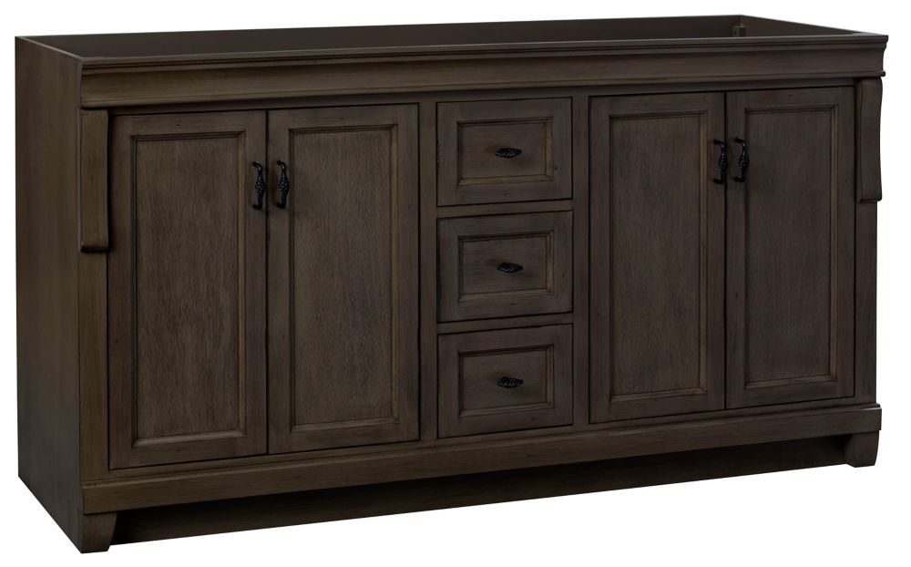 Foremost Naples 60in Vanity Cabinet in Antique Walnut for Double Basin