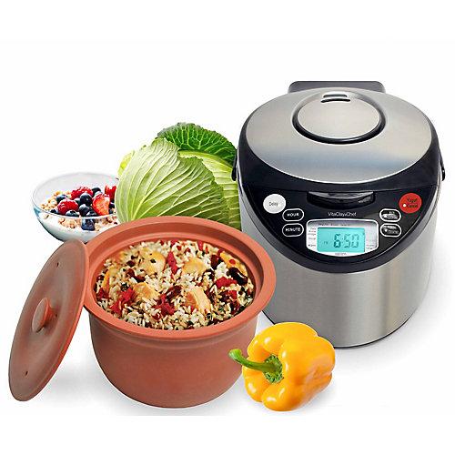 Multi cuiseur intelligent organique avec pot en argile à haute température de Vitaclay®.