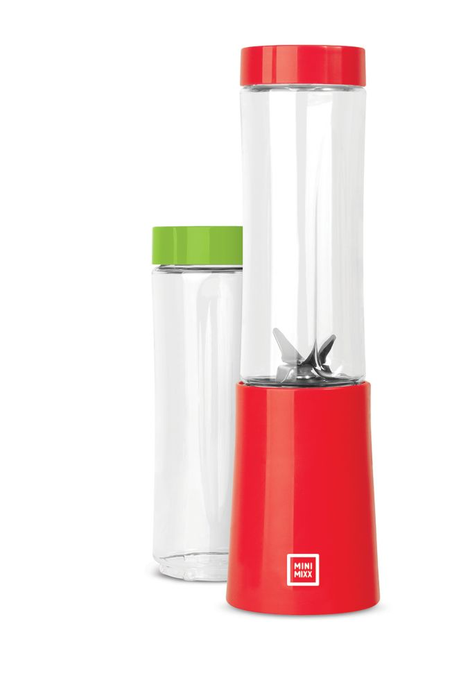 Euro Cuisine Personal Blender with 2 Bottles in Red
