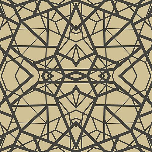 Roommates Papier Peint Adhesif Geometrique Noir Or Home Depot Canada