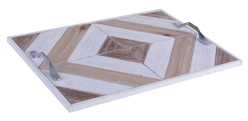 Art Maison Canada 20x14x2 OUTLINES II, Wooden Tray with Pattern