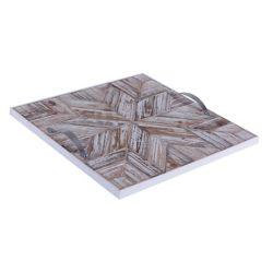 Art Maison Canada 14.5x14.5x1.5 STAR, plateau en bois avec motif