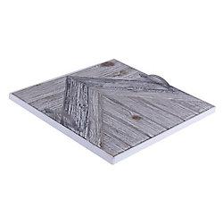Art Maison Canada 14.5x14.5x1.5 CHEVRON, Wooden Tray with Pattern