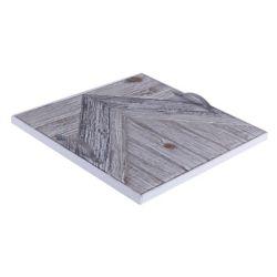 Art Maison Canada 14.5x14.5x1.5 CHEVRON, plateau en bois avec motif