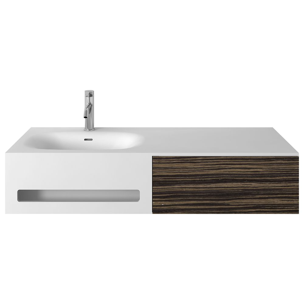 Jade Bath Valera 48 inch Single Wall-Mounted Bathroom Vanity with Integrated Towel Bar