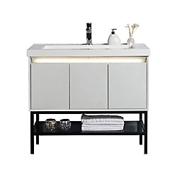 Jade Bath Ella 40 inch Single Freestanding Modern Bathroom Vanity