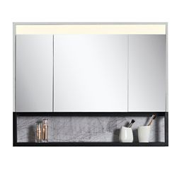 Jade Bath Ella 40 inch x 32 inch Mirror Cabinet with LED Light and Integrated Shelf
