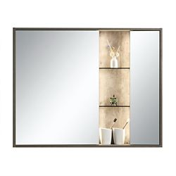 Jade Bath Harlie 40 inch x 32 inch Mirror Cabinet with LED Light and Integrated Shelving