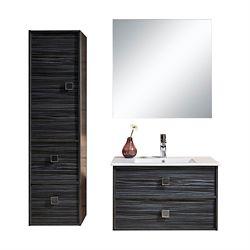Jade Bath Joan 32 inch Single Wall-Mounted Modern Bathroom 3-Piece Vanity Set with Mirror and Cabinet